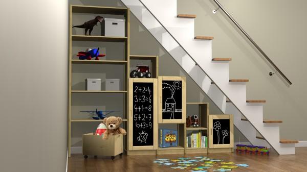 shelfstore kids under the stairs