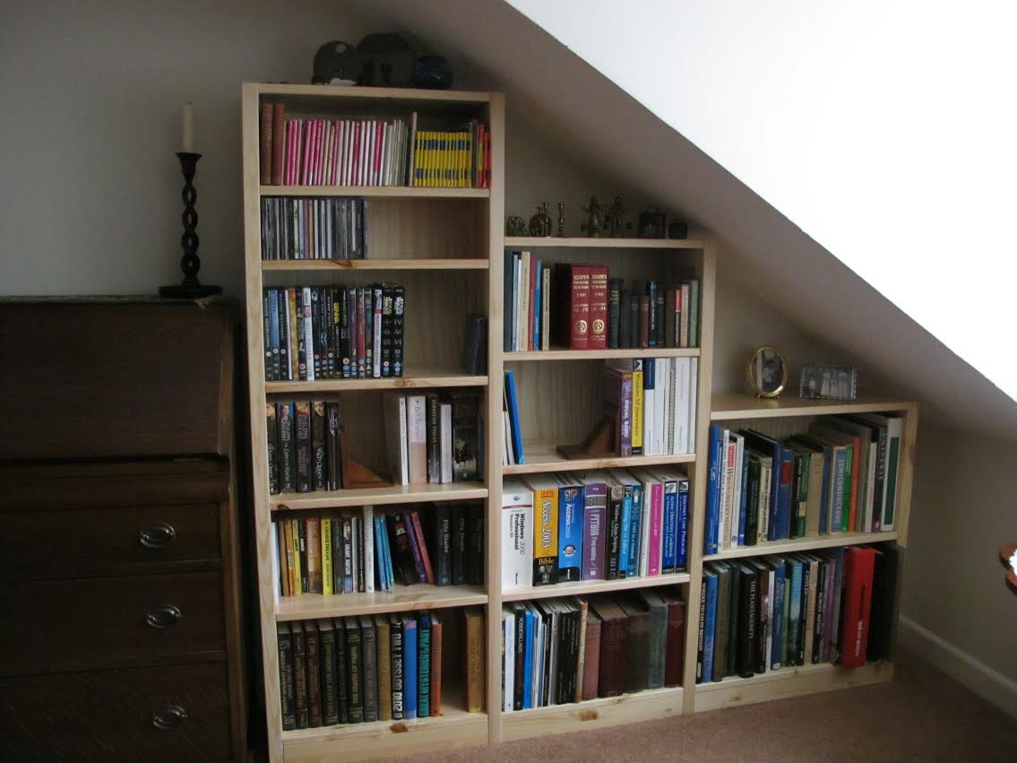sloped shelves