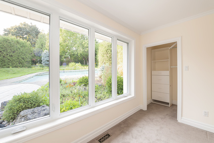 Large window in bedroom