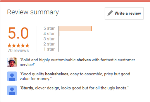 google reviews shelfstore
