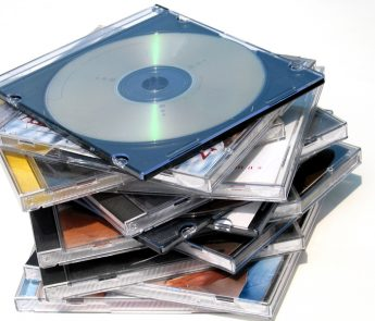 stack of dvd/cds