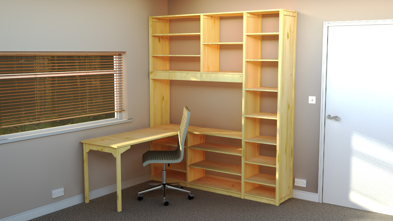 home office shelving solutions. Example Office Solution 5 160 X 193 Cm Home Shelving Solutions